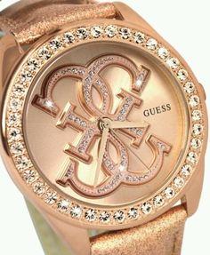 Guess Watch Women's Rose Gold Tone Dressy Wrist Fashion Jewelry New Style Bling