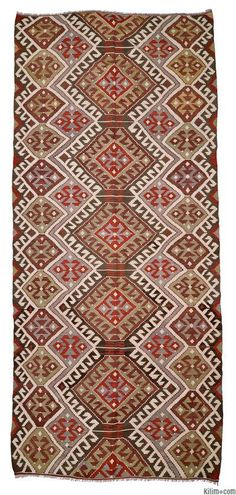 Vintage Antalya Kilim Rug around 60 years old.