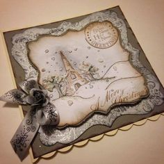 beautiful handmade christmas card, can be personalised.