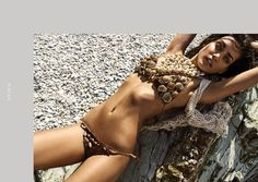 Crochet Bikini, Bikinis, Swimwear, Editorial, Collection, Fashion, Maori, Brunettes, Bathing Suits