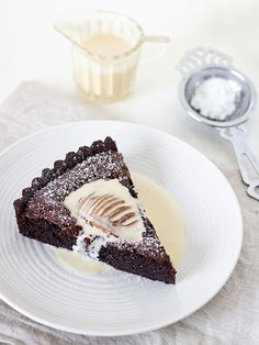 chocolate and pear tart by spicyicecream, via Flickr