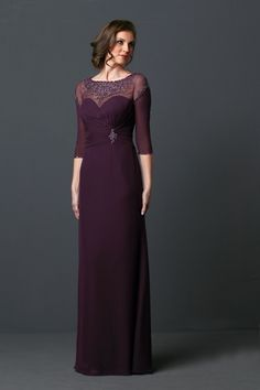 Cheap mother of bride, Buy Quality mother of bride dress directly from China mother of the bride Suppliers: Elegant Sleeves Mother of the Bride Dresses Chiffon Floor Length Appliqued Lace Plus Size Formal Gowns With Beaded Mothers Dresses To Wear To A Wedding, Perfect Wedding Dress, Bridesmaid Dresses, Prom Dresses, Dress Prom, Tulle Gown, Chiffon Dress, Plus Size Gowns Formal, Formal Gowns