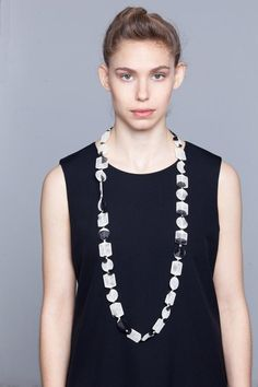 jersey necklace statement necklace textile jewelry bib necklace fabric jewelry Triple necklace contemporary art asymmetric necklace