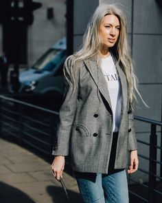 Classic blazer and shirt combo