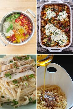 Popsugar Food - 25 1 Pot and 1 Pan Italian Recipes to Solve All Your Dinner Problems. One pot meals.