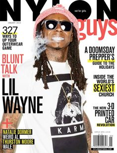 Lil Wayne On The Front Cover Of NYLON Guys December 2014 January 2015 Magazine + Interview + Photo Shoot