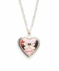 Another great find on #zulily! Mickey & Minnie Smooch Locket Necklace #zulilyfinds