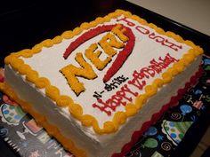 Image result for Nerf sheet cake
