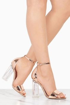3e16e80eb79 Beverly Hills - Rose Gold - Miss Lola  YourPinterestLikes Ankle Straps