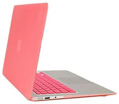 Gearonic Rubberized PC Hard Case with Keyboard Cover and Screen Protector for 13-Inch MacBook Air, Pink (5082PPUIB)