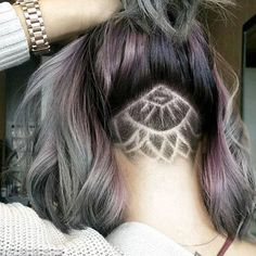 Sneaky: The 'tattoos' mean that when the hair is pulled up into a ponytail or bun you can ...
