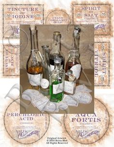 Hey, I found this really awesome Etsy listing at https://www.etsy.com/listing/74578104/precut-apothecary-alchemy-bottle-labels