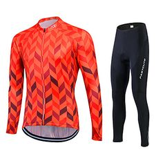 52bed78a8e6   39.99  Fastcute Men s   Women s Long Sleeve Cycling Jersey with Tights -  Silver+Blue Plus Size Bike Jersey   Tights   Clothing Suit