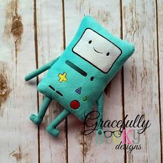 Videogame Stuffie ITH Embroidery Design - 5x7 Hoop or larger