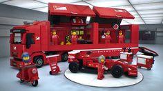 The showroom is open! #LEGO Speed Champions- 75913 #Ferrari F14 T & Scuderia Ferrari Truck