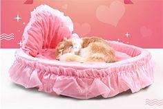 MagicMen Pet Coral Fleece Lace Princess Bed Cat Dog Pet Beds Cute Princess Beds Super Soft Comfortable Pet Nest L22042086inch Pink >>> Click on the image for additional details. (Note:Amazon affiliate link)