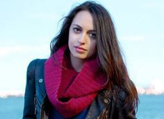 Modeling new scarves....