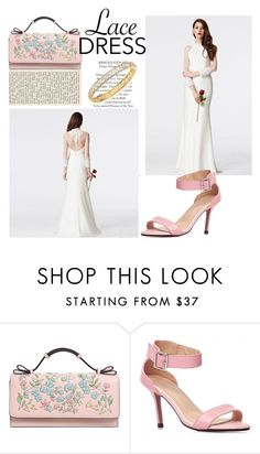 """High Neck Lace Floor-length White Wedding Prom Mermaid Dress by Coniefox"" by coniefoxdress ❤ liked on Polyvore featuring RED Valentino and Adriana Orsini"