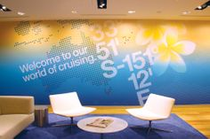 Carnival Australia Branded Environment by There Design. Working with Watermark Interiors, an integrated graphical language was created that portrayed the many great aspects of not just cruising, travel and life on the sea but also the considerable heritage of the Carnival brands.