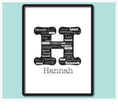 Personalized Names Wall Art Most Popular Decor by Sparrowandink, $18.00