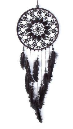 Large Black Dream Catcher Crochet Doily Dreamcatcher large
