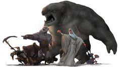 https://www.behance.net/gallery/27408677/Fanart-The-Lord-of-the-Rings