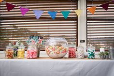 A colourful handmade beachside wedding with the reception held in the Lorne Surf Club. Coloured bunting, macarons, lollies and stunning teal bridesmaids gowns add to the seaside feel. Surf, Wedding Decorations, Reception, Backyard, Bridesmaid, Club, Weddings, Handmade, Maid Of Honour