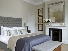 lightened version of Farrow and Ball stony ground (10% white added) Dunsany Road contemporary-bedroom