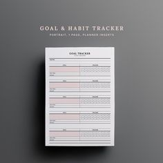 Monthly Goal Tracker Habit 30 days Monitor Fitness