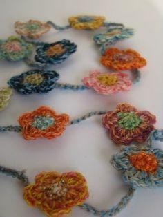 Resultado de imagen de necklace crochet daniela cerri