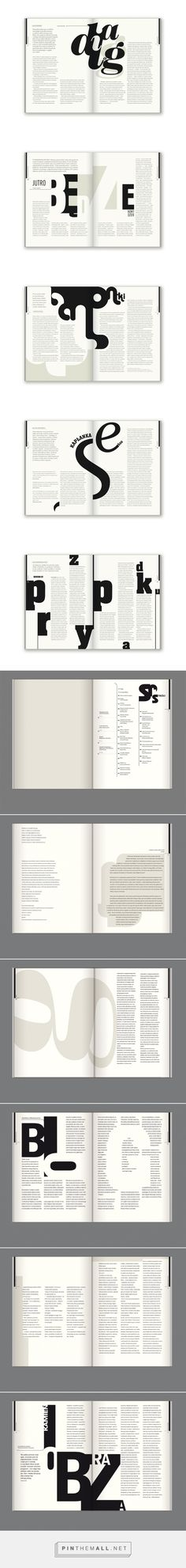 Editorial Design: Bluszcz Magazine – Design is art Design Brochure, Graphic Design Layouts, Book Design Layout, Print Layout, Graphic Design Typography, Brochure Ideas, Editorial Design, Editorial Layout, Graphisches Design