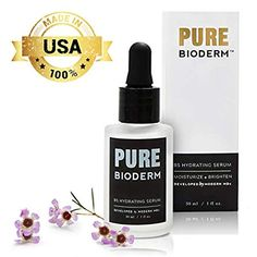 Pure Bioderm Vitamin Facial Serum with Hyaluronic Acid - Hydrating Serum and Moisturizer for Smoother Skin and Glowing Complexion Anti Aging Moisturizer, Facial Serum, Anti Aging Serum, Rainforest Shower Head, Coastal Inspired Kitchens, Cage Pendant Light, Hydrating Serum, Skin Brightening, Cavapoo Puppies
