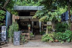 Starting A Coffee Shop, Small Coffee Shop, Coffee Shop Bar, Best Coffee Shop, Coffee Shop Design, Cafe Design, Coffee Shops, Backyard Restaurant, Forest Cafe