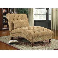 Wildon Home ® Chenille Chaise Lounge | Wayfair (future reading chair perhaps?)