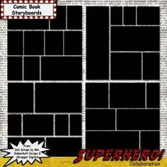 Comic book storyboard- would work for a event page