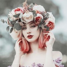 Portrait photography - What distinguishes Jovana Rikalo from others? Fantasy Photography, Girl Photography, Pelo Color Gris, Pretty People, Beautiful People, Miss Perfect, Portrait Inspiration, Dyed Hair, Cute Girls