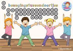 Bewegingstussendoortjes voor kinderen, kleuteridee.nl, powered by ThingLink