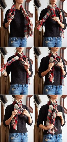 How to tie a scarf - french twist from http://joannagoddard.blogspot.fi/2014/02/three-ways-to-tie-scarf.html