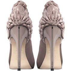 Karen Millen Soft frills peep toe