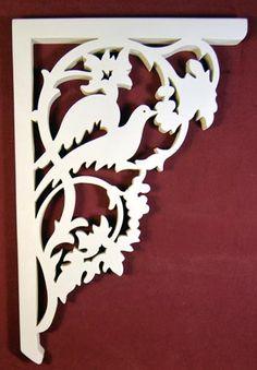 Victorian bird porch bracket