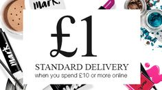 £1 standard delivery when you spend £10 or more online