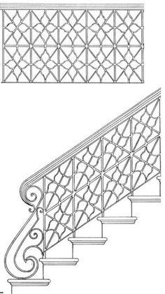 Handrails For Stairs, Stair Railings, Custom Scroll Design, Railing, Handmade In America Since Stair Railing Design, Hand Railing, Metal Drawing, Interior Railings, Designs To Draw, Stairs, Wood, Garage, Drawings