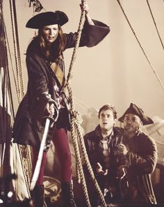 """Karen Gillan as Amy Pond and Arthur Darvill as Rory Williams - """"The Curse of the Black Spot"""""""