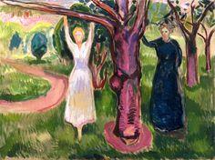 Two Women under the Tree in the Garden Edvard Munch - 1919