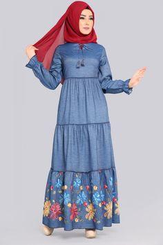 ** YENİ ÜRÜN ** Nakışlı Kot Elbise Kot Ürün Kodu: PLEE2540 --> 119.90 TL