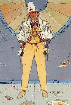 Jean Giraud (also known as Moebius / Mœbius) was a French artist who has influenced pop-culture through his creative and boundless imagination. Jean Giraud Moebius, Moebius Art, Moebius Comics, Science Fiction, Character Design References, Character Art, Illustrations, Illustration Art, Serpieri
