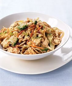Spaghetti with Szechuan Chicken and Peanut Sauce