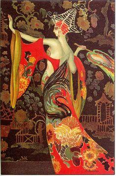 M. Montedoro Art Deco Postcards - 1920s