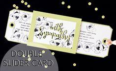"""Мастер-класс по выполнению интерактивной открытки """"Double Slider card"""". Видео подготовлено специально для блог-хоп блога Wood Crafts. http://scrapulechki.blo..."""