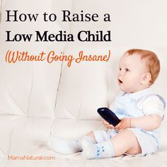How to raise a low media child. A great article.